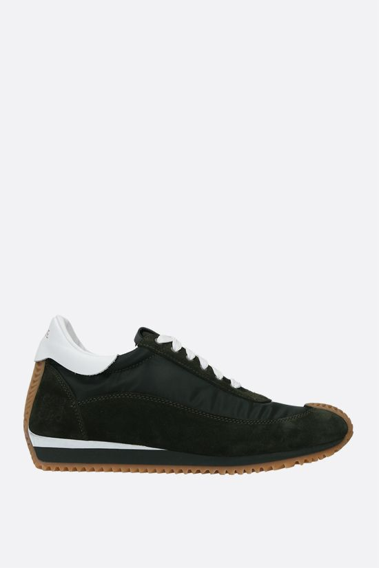 LOEWE: Flow nylon and suede sneakers_1