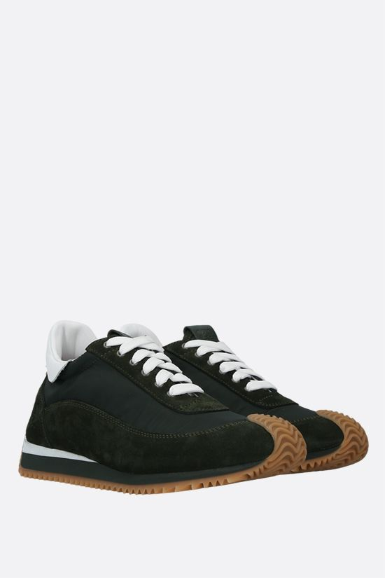 LOEWE: Flow nylon and suede sneakers_2