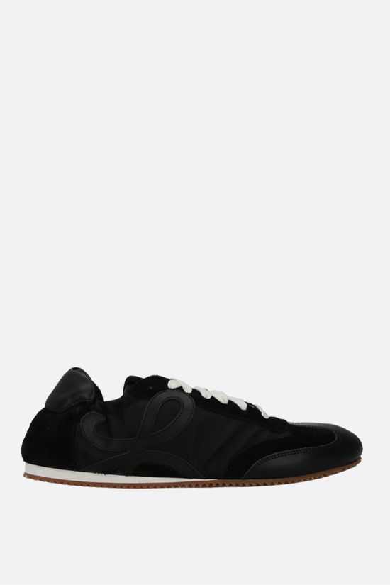 LOEWE: Ballet suede and nylon trainers Color Black_1
