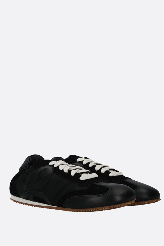 LOEWE: Ballet suede and nylon trainers Color Black_2