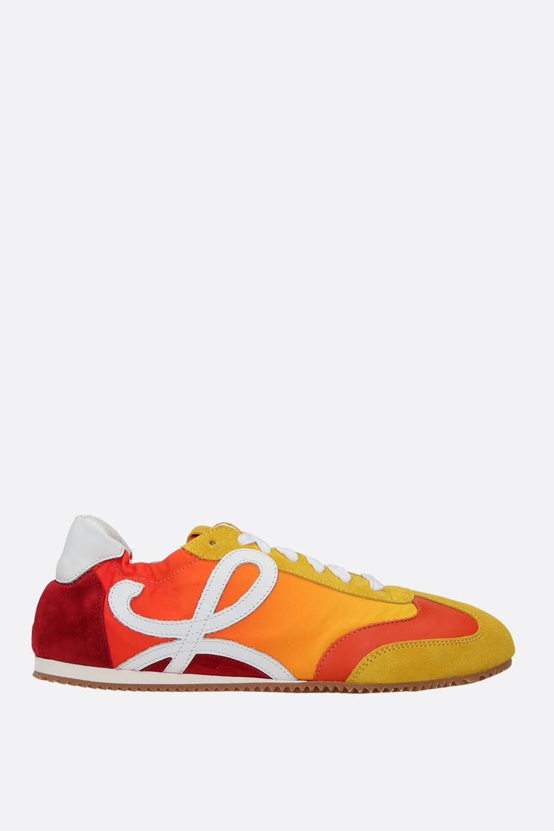 LOEWE: Ballet suede and nylon trainers_1