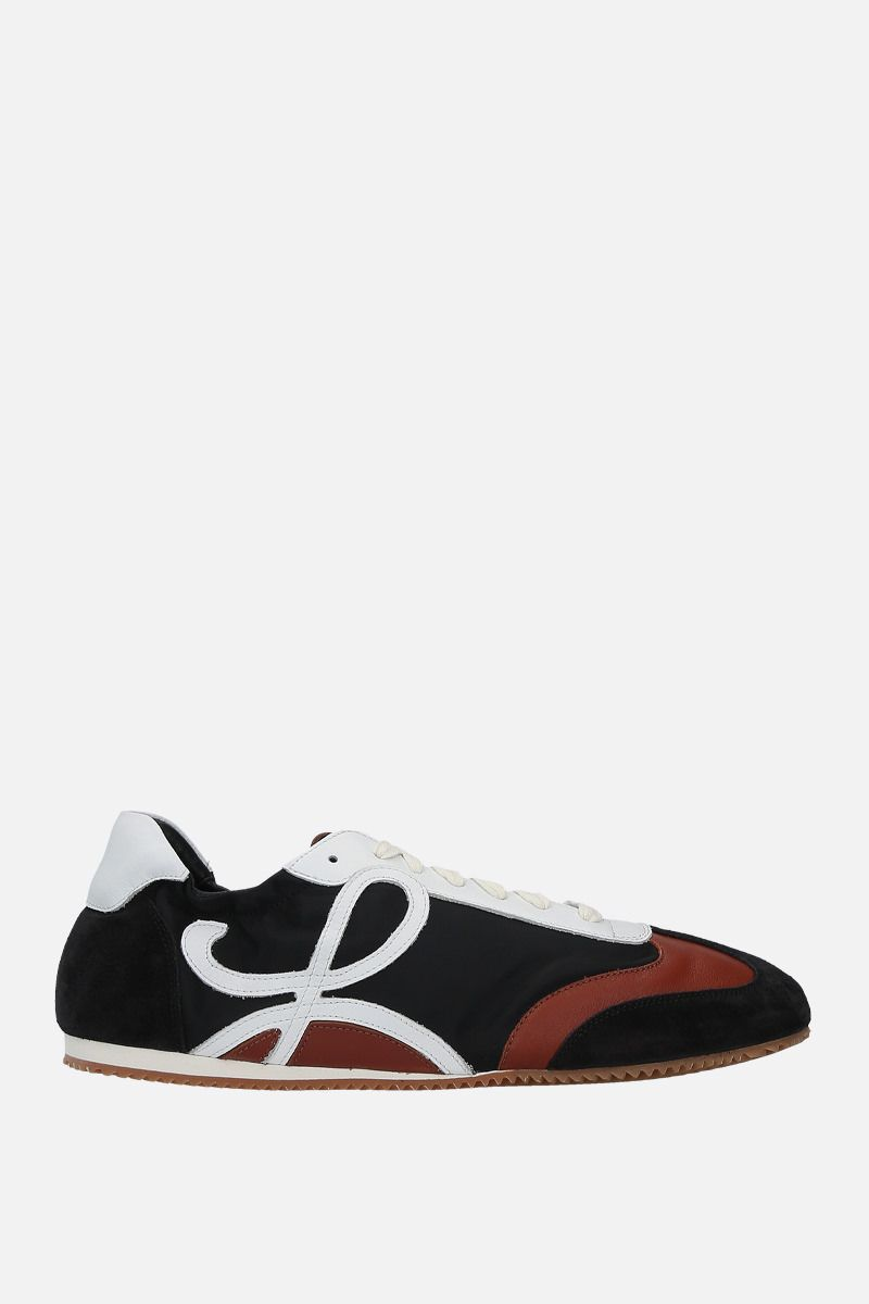 LOEWE: Ballet suede and nylon sneakers Color Black_1