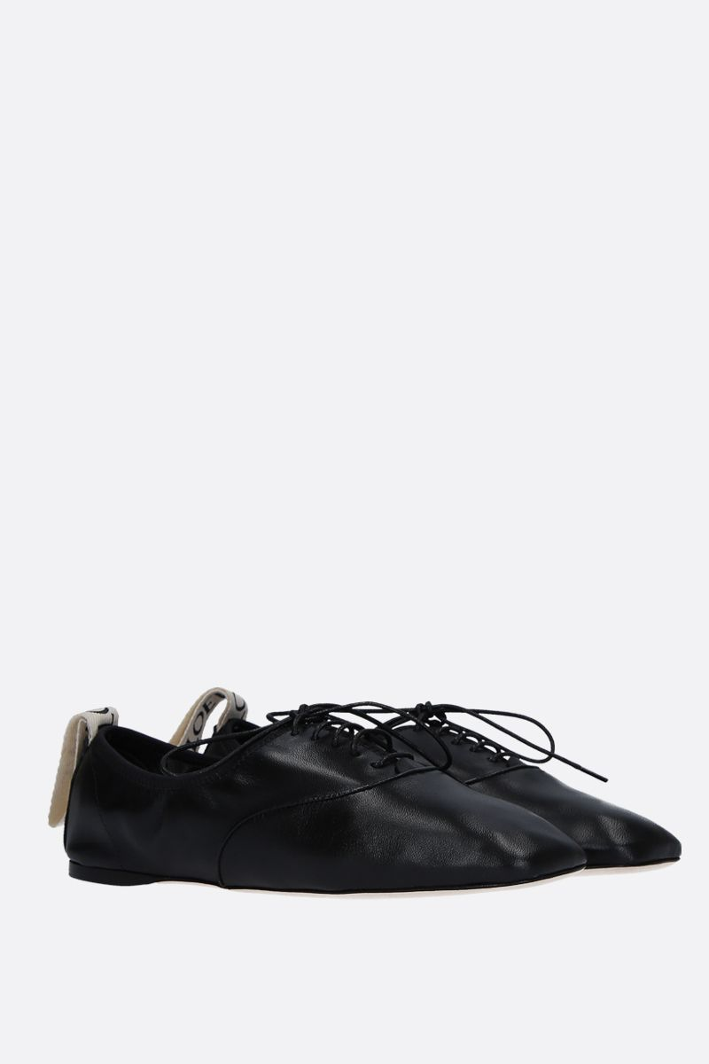 LOEWE: soft nappa derby shoes Color Black_2