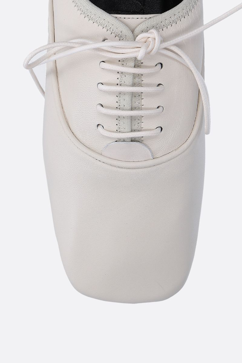 LOEWE: soft nappa derby shoes Color White_5