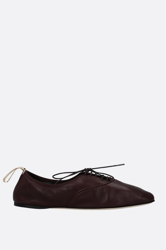 LOEWE: soft nappa derby shoes Color Red_1