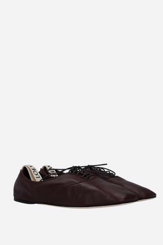 LOEWE: soft nappa derby shoes Color Red_2