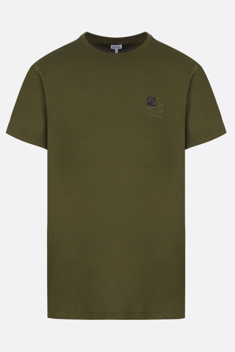 LOEWE: Anagram cotton t-shirt Color Green_1