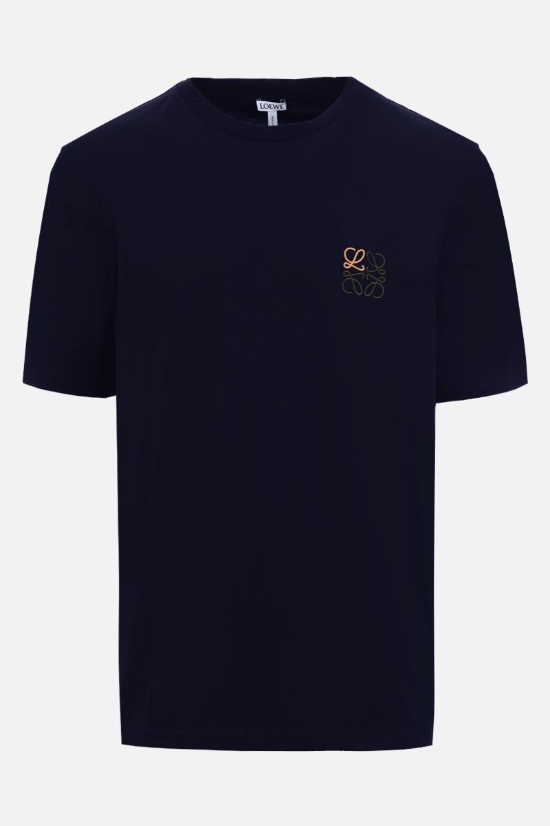 LOEWE: Anagram cotton t-shirt Color Blue_1
