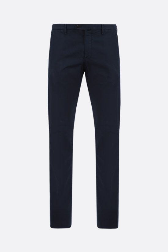 LORO PIANA: slim-fit stretch cotton pants Color Blue_1