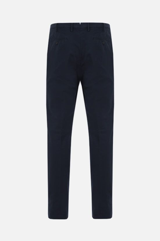 LORO PIANA: slim-fit stretch cotton pants Color Blue_2