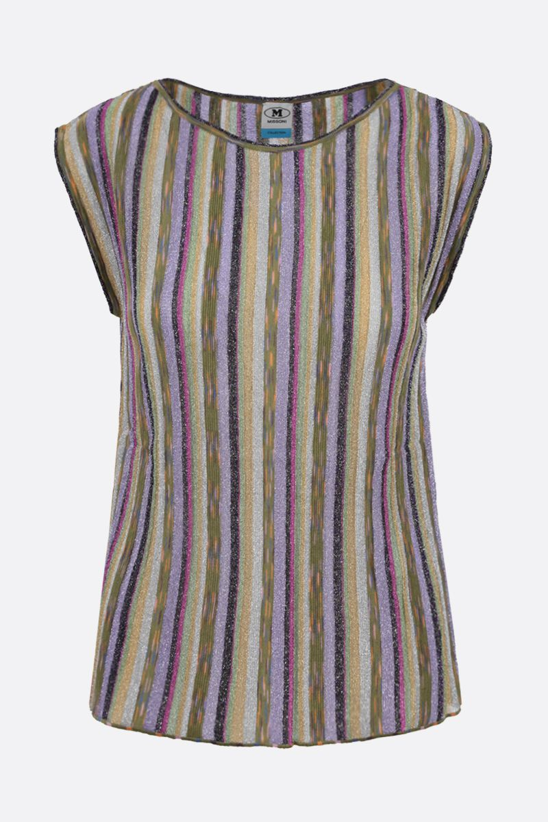 M MISSONI: striped lightweight knit sleeveless top Color Multicolor_1
