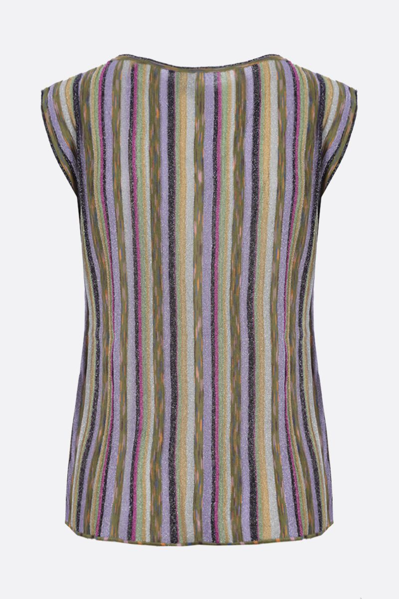 M MISSONI: striped lightweight knit sleeveless top Color Multicolor_2