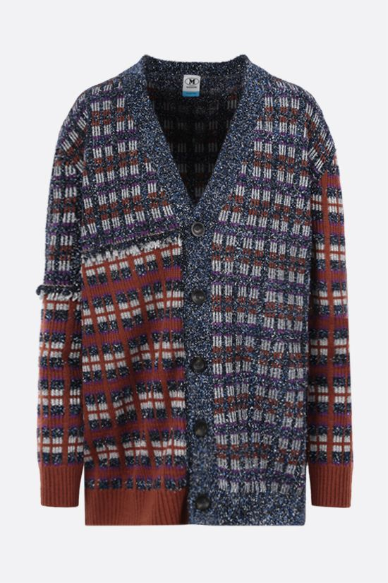 M MISSONI: geometric-motif tweed cardigan Color Multicolor_1