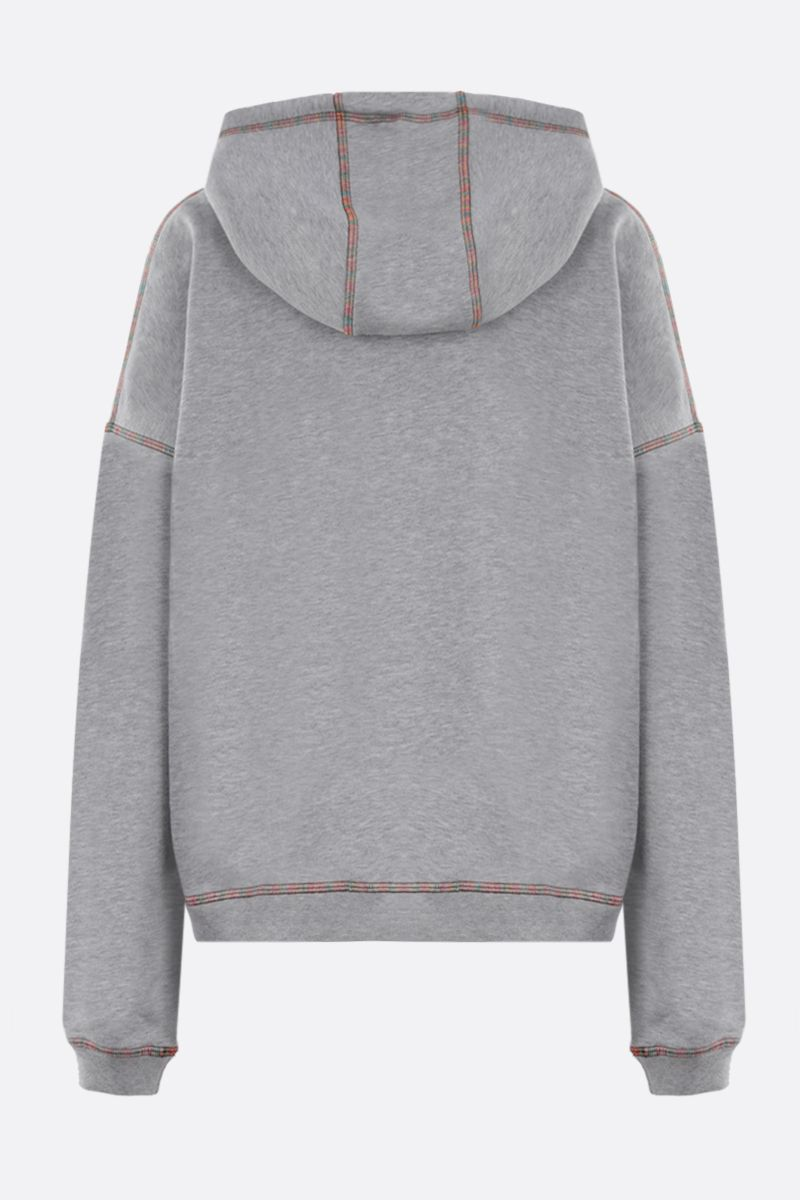 M MISSONI: M embroidered cotton hoodie Color Grey_2