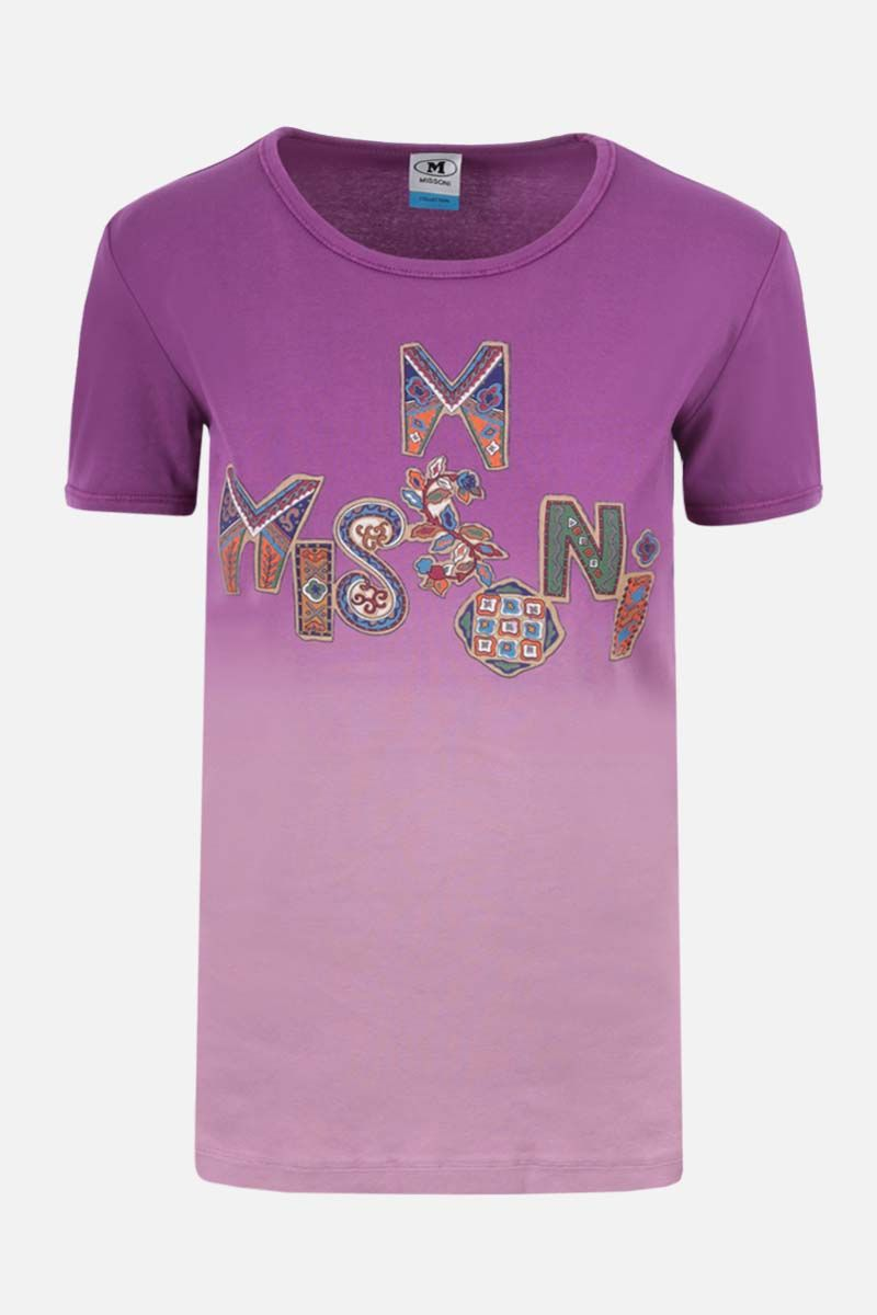 M MISSONI: M Missoni print cotton t-shirt Color Multicolor_1
