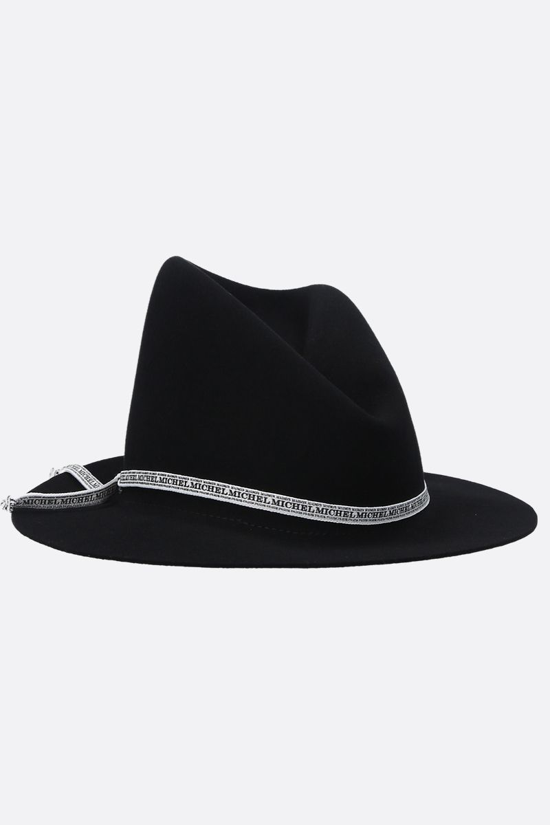 MAISON MICHEL: Andrè wool felt bucket hat Color Black_1