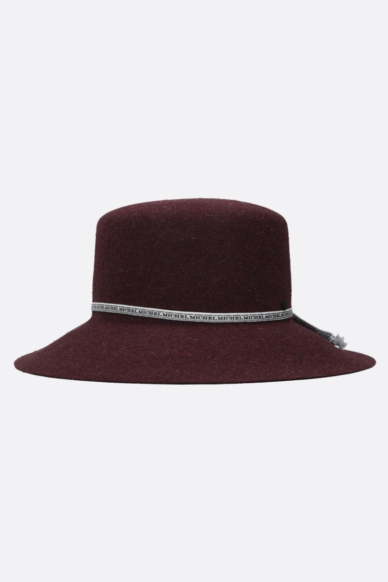 MAISON MICHEL: New Kendall rabbit felt bucket hat Color Red_1