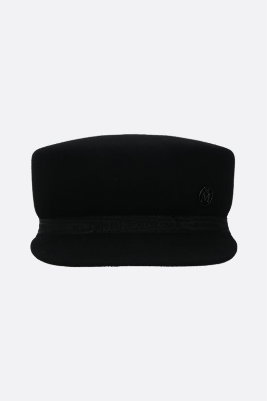 MAISON MICHEL: Abby wool felt sailor cap Color Black_1