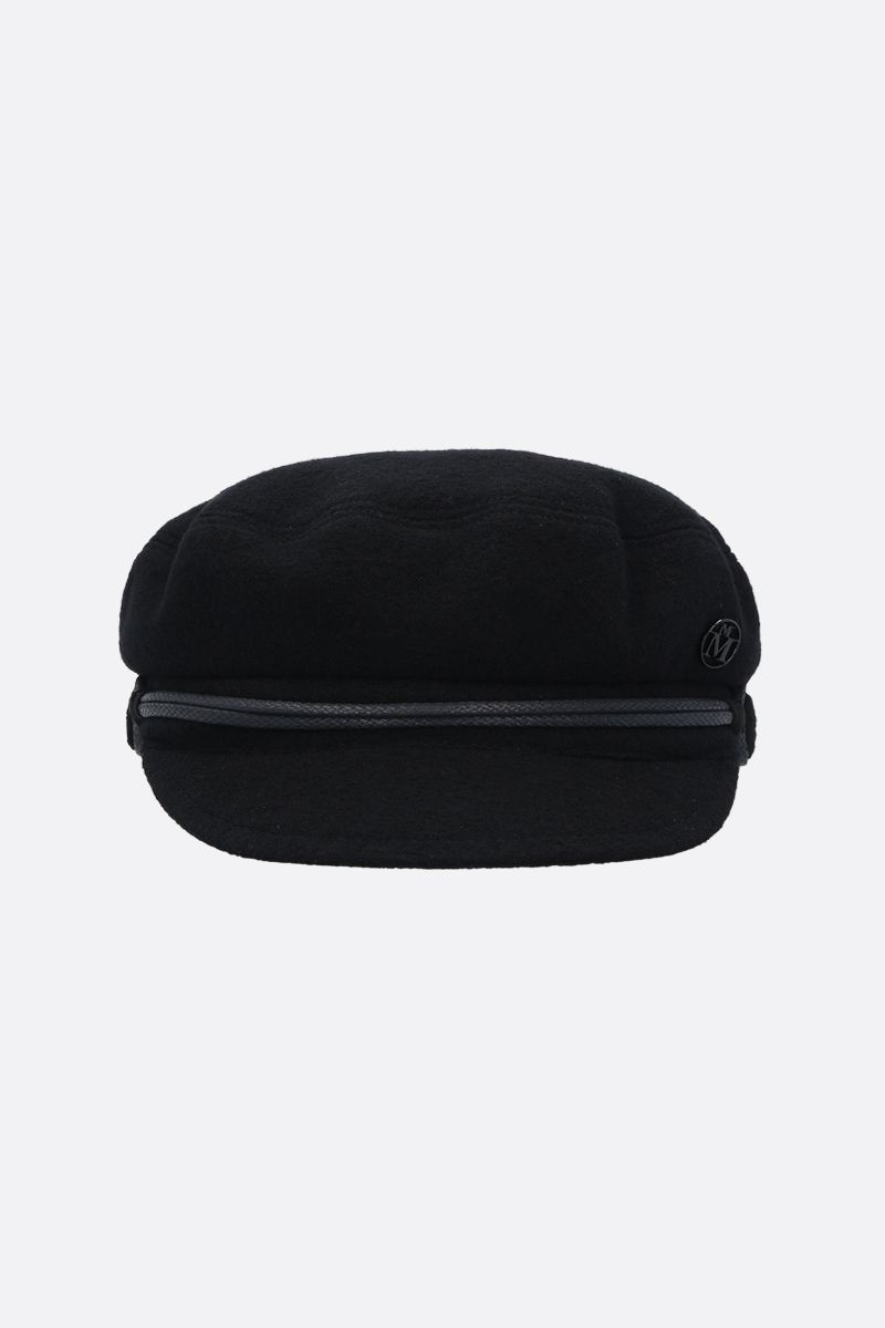 MAISON MICHEL: New Abby felt sailor cap Color Black_1
