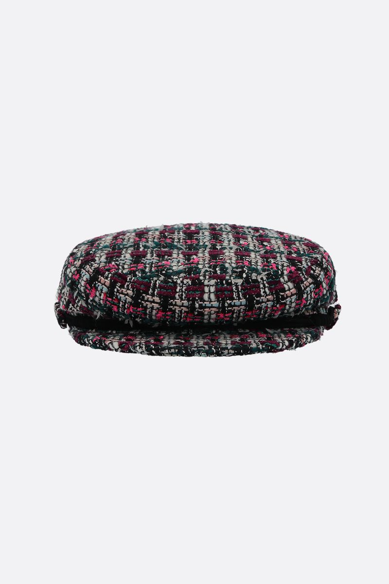 MAISON MICHEL: New Abby tweed sailor cap Color Multicolor_1