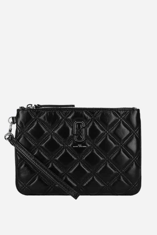 MARC JACOBS: quilted leather pouch Color Black_1