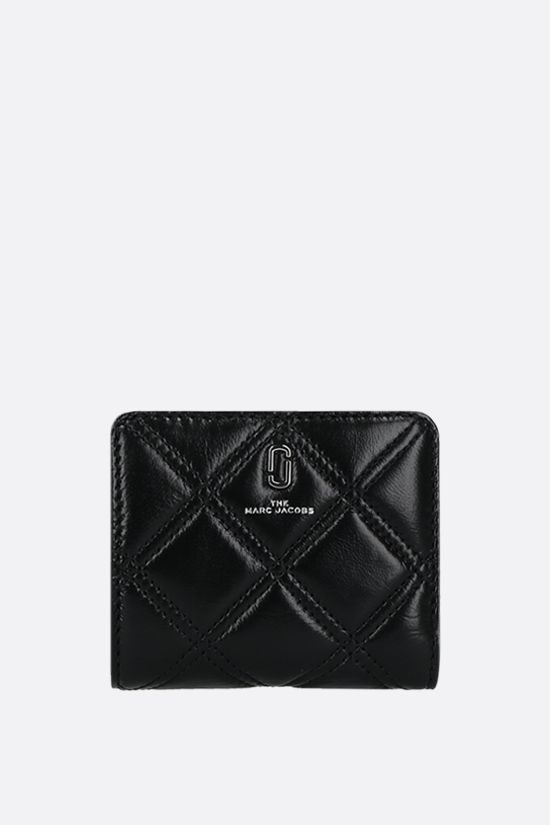 MARC JACOBS: quilted leather compact wallet Color Black_1