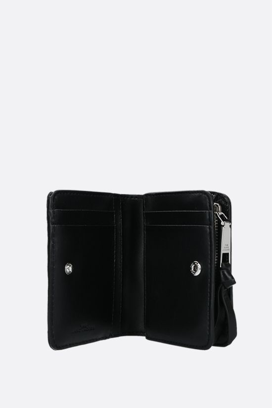 MARC JACOBS: quilted leather compact wallet Color Black_2