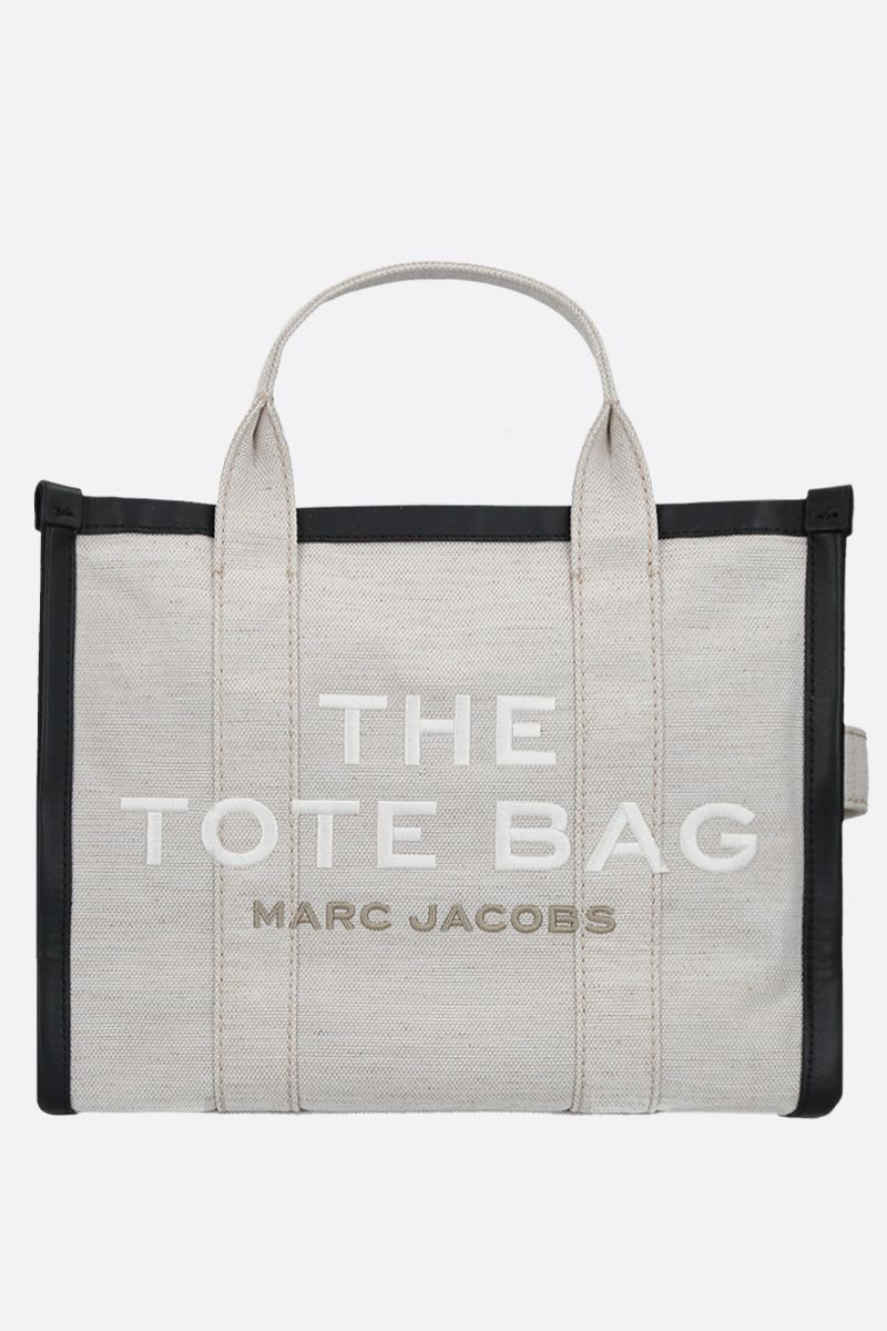 MARC JACOBS: The Traveler small canvas tote bag Color Neutral_1