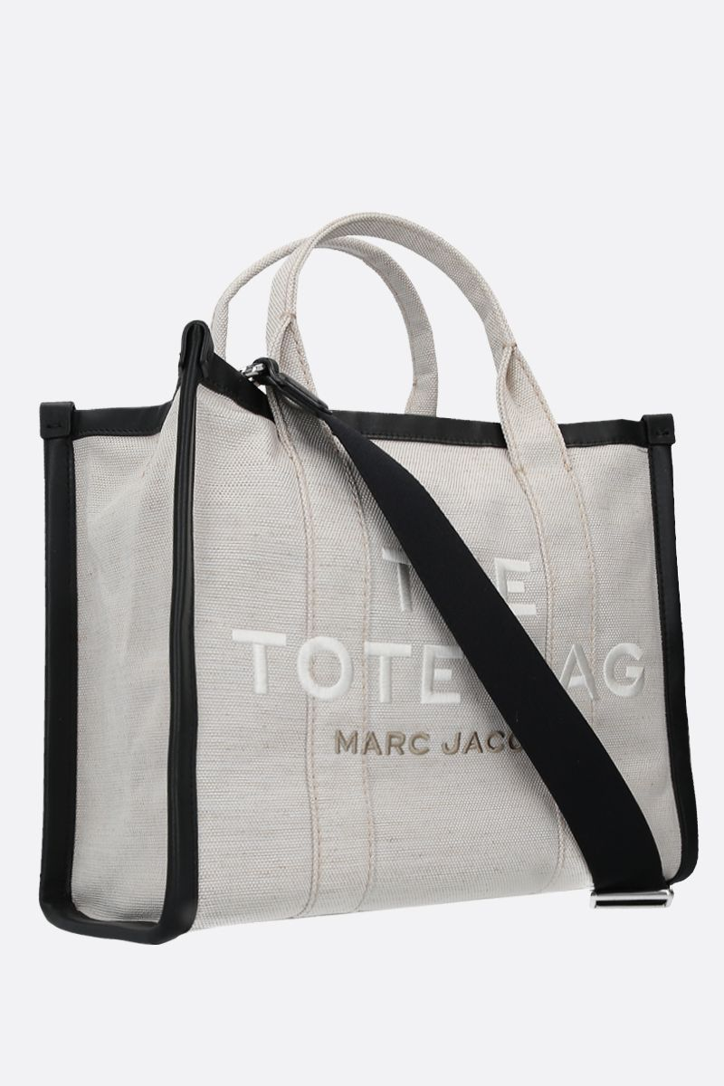 MARC JACOBS: The Traveler small canvas tote bag Color Neutral_2