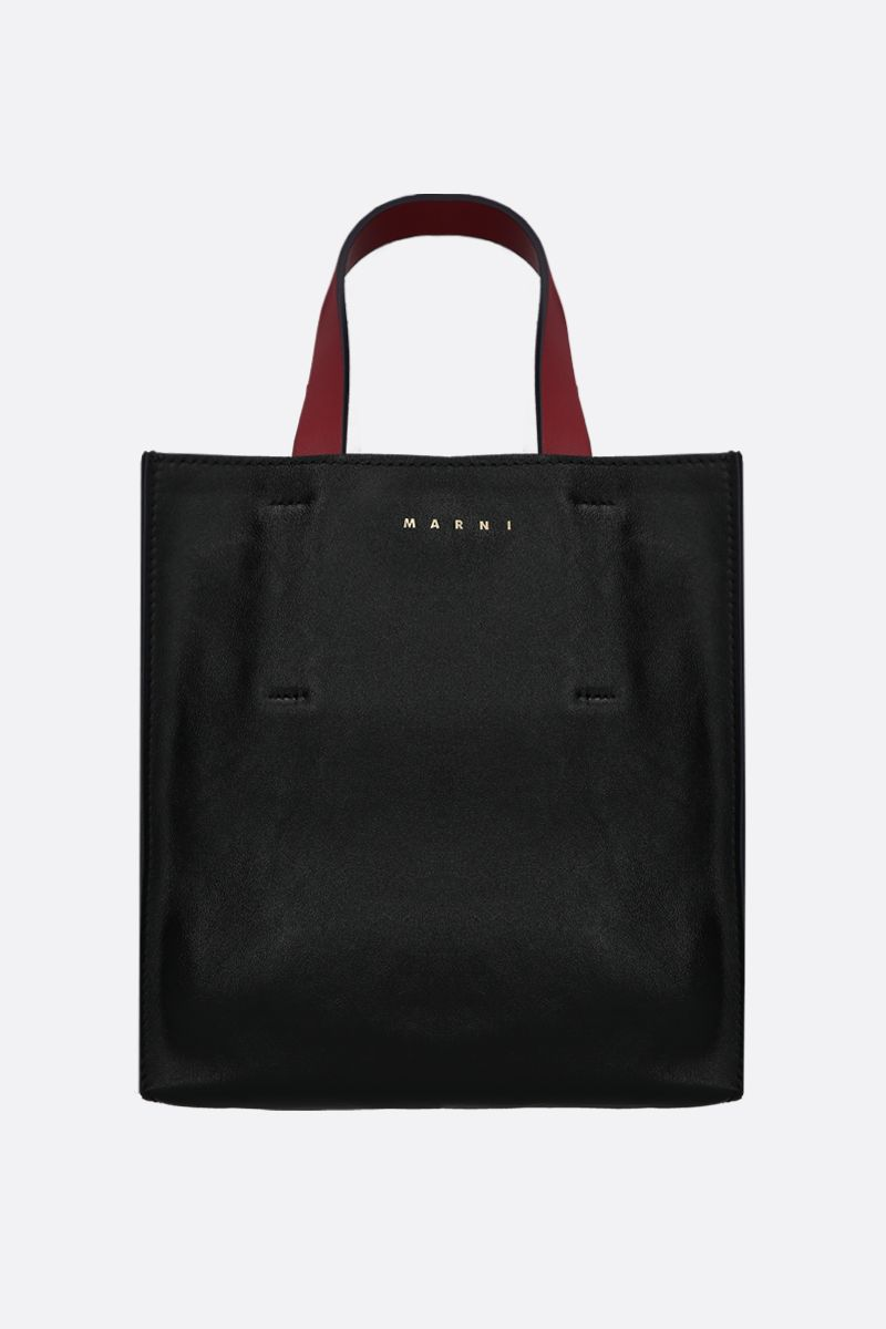 MARNI: Museo Soft mini shiny leather handbag Color Black_1