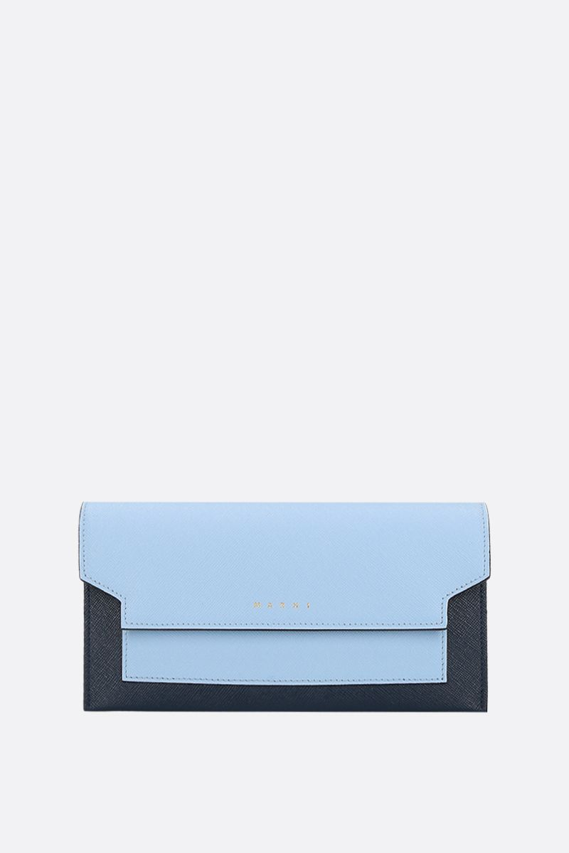 MARNI: saffiano leather strap wallet_1
