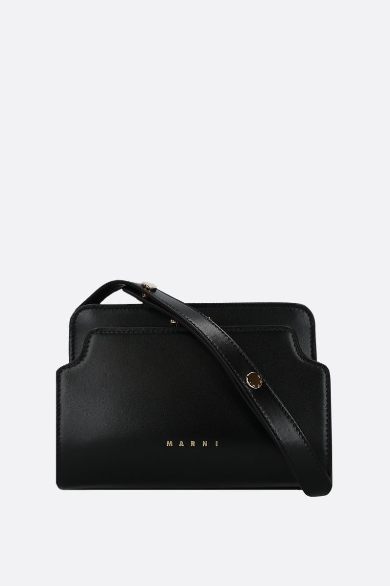 MARNI: Trunk mini smooth leather shoulder bag Color Black_1