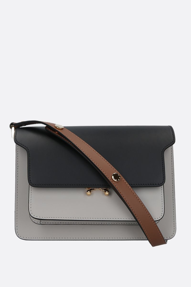 MARNI: Trunk medium smooth leather shoulder bag_1