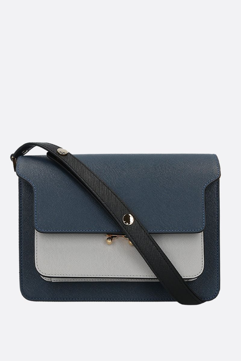 MARNI: Trunk medium saffiano leather shoulder bag_1