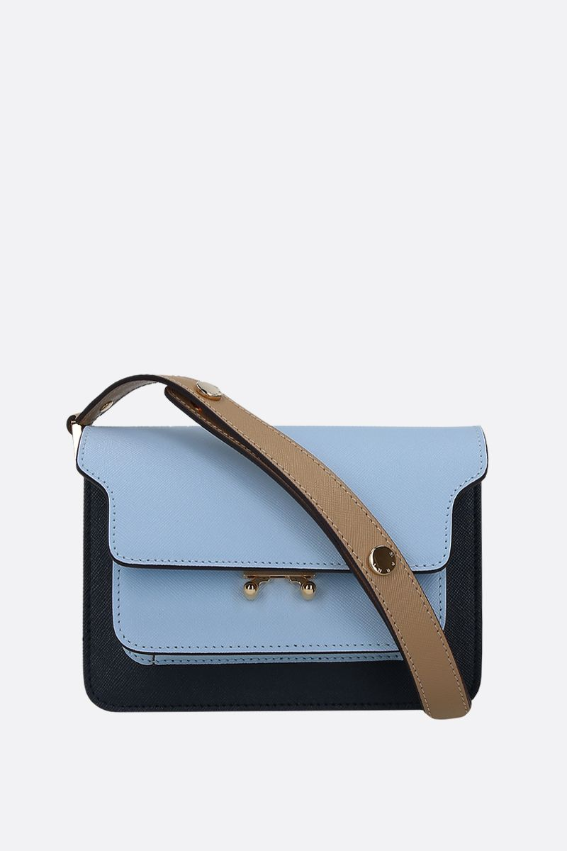MARNI: Trunk mini crossbody bag in saffiano leather_1