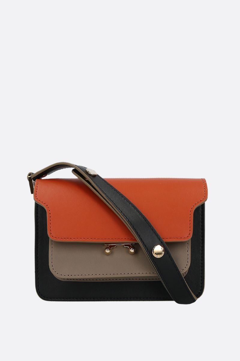 MARNI: Trunk mini smooth leather crossbody bag_1