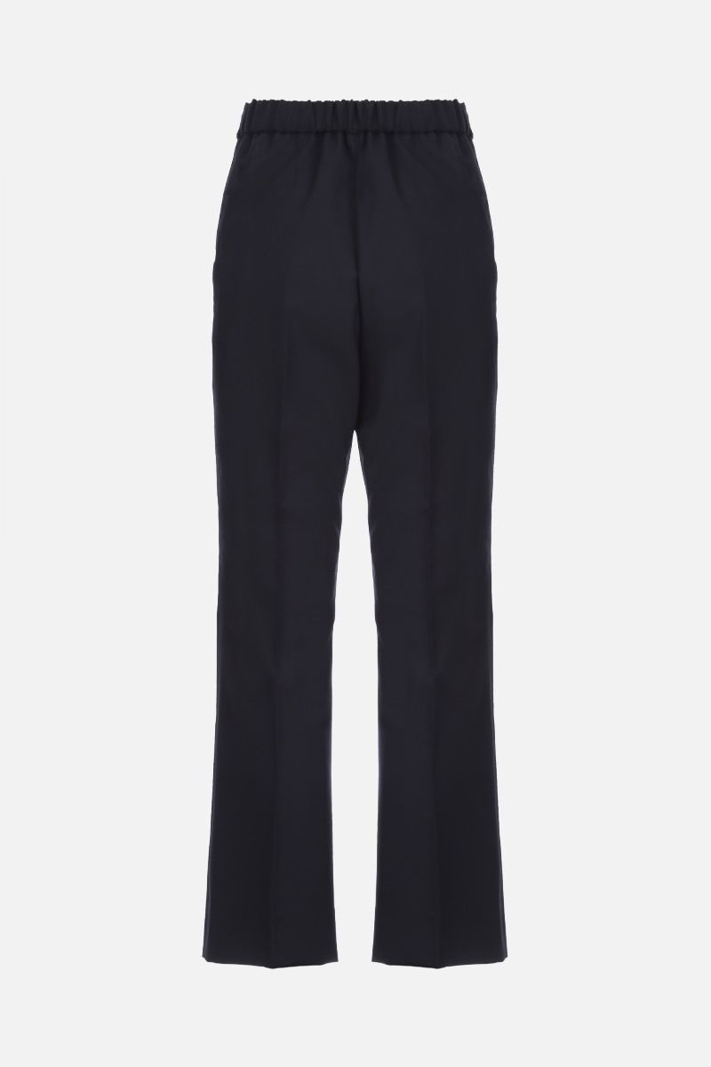 MARNI: wool flare pants Color Blue_2