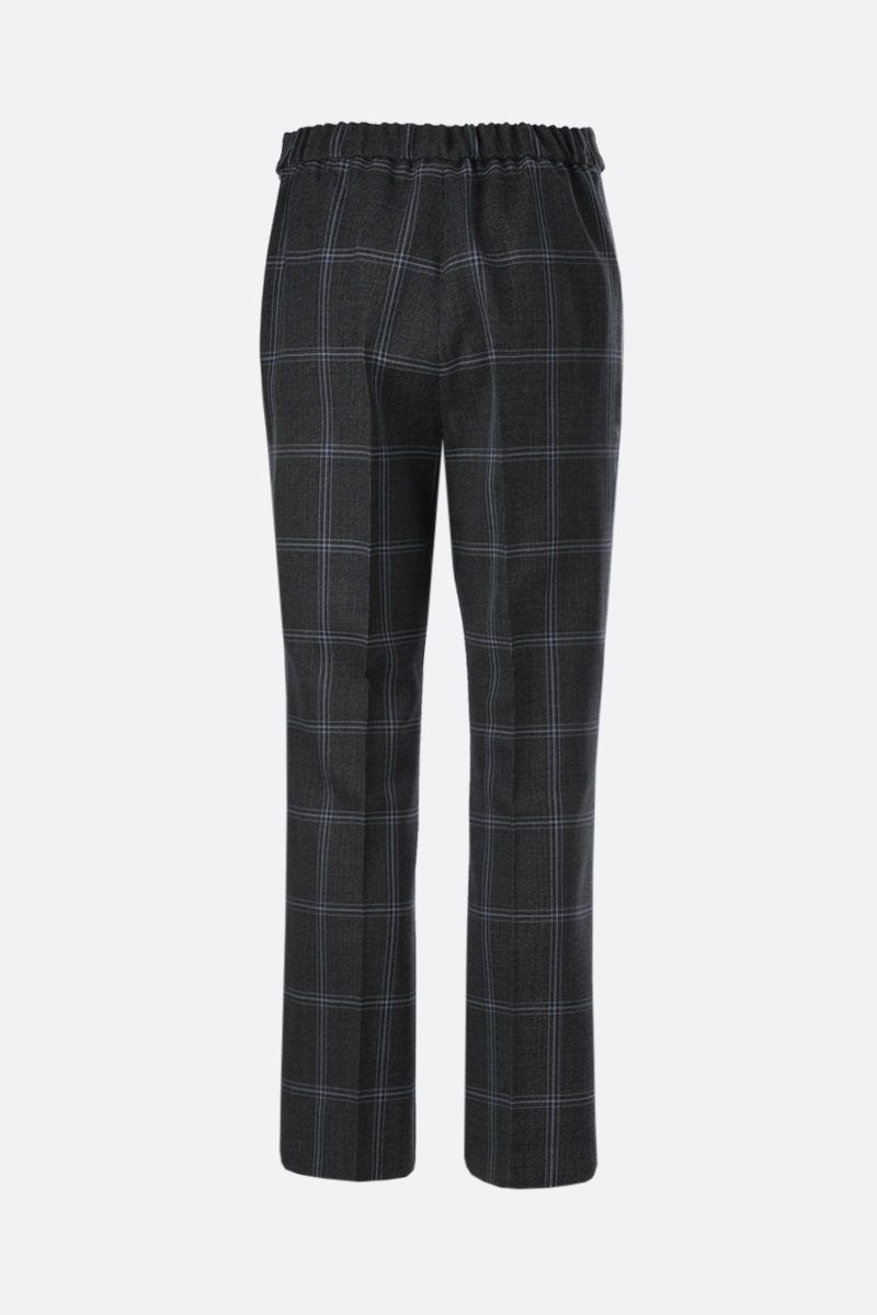 MARNI: prince of Wales wool cropped pants Color Grey_2