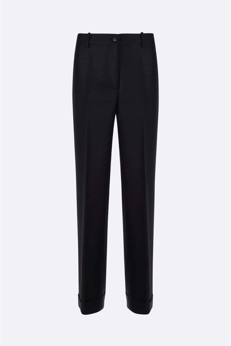 MARNI: wool blend wide-leg pants Color Black_1