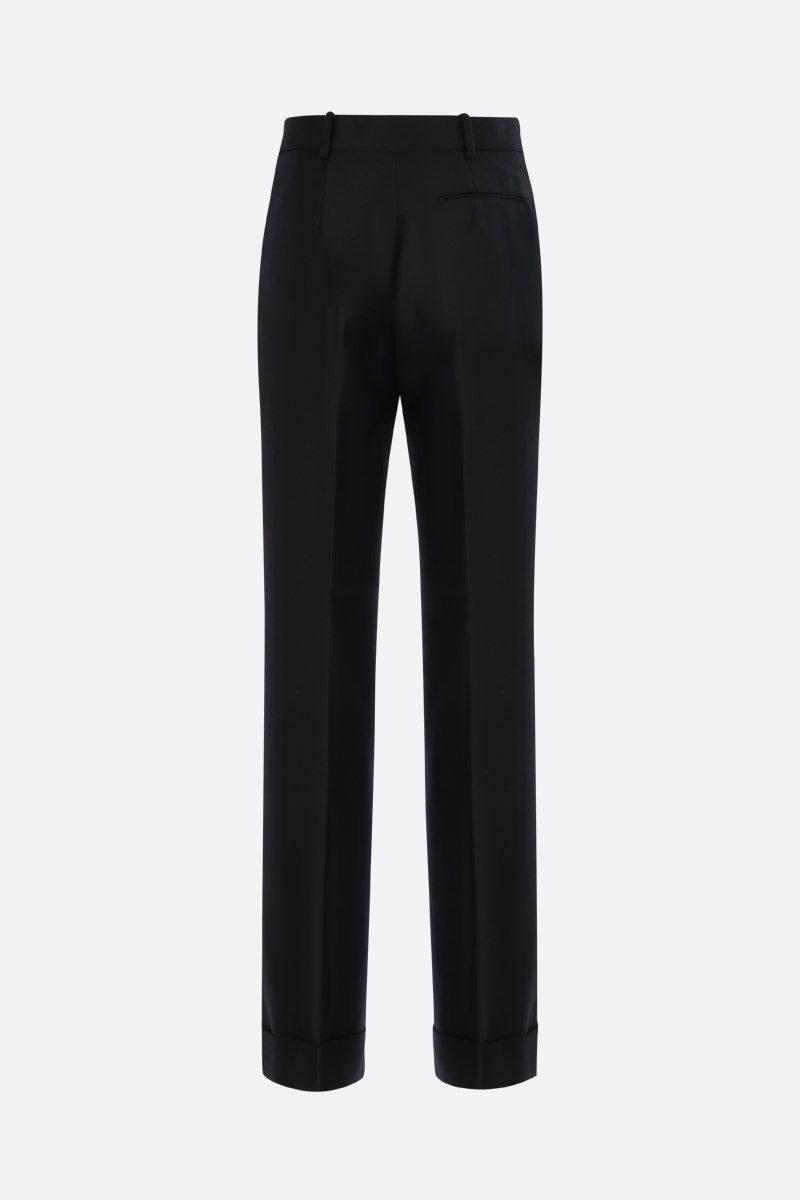 MARNI: wool blend wide-leg pants Color Black_2