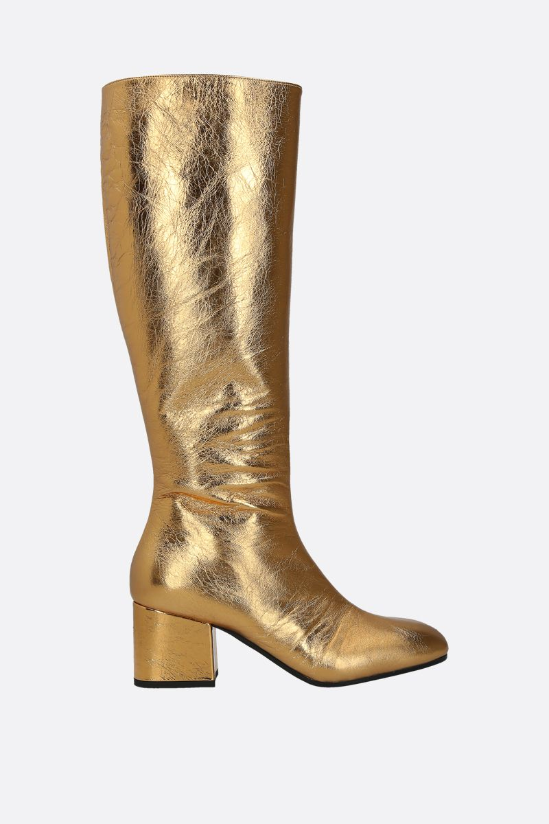 MARNI: laminated nappa leather boots Color Gold_1