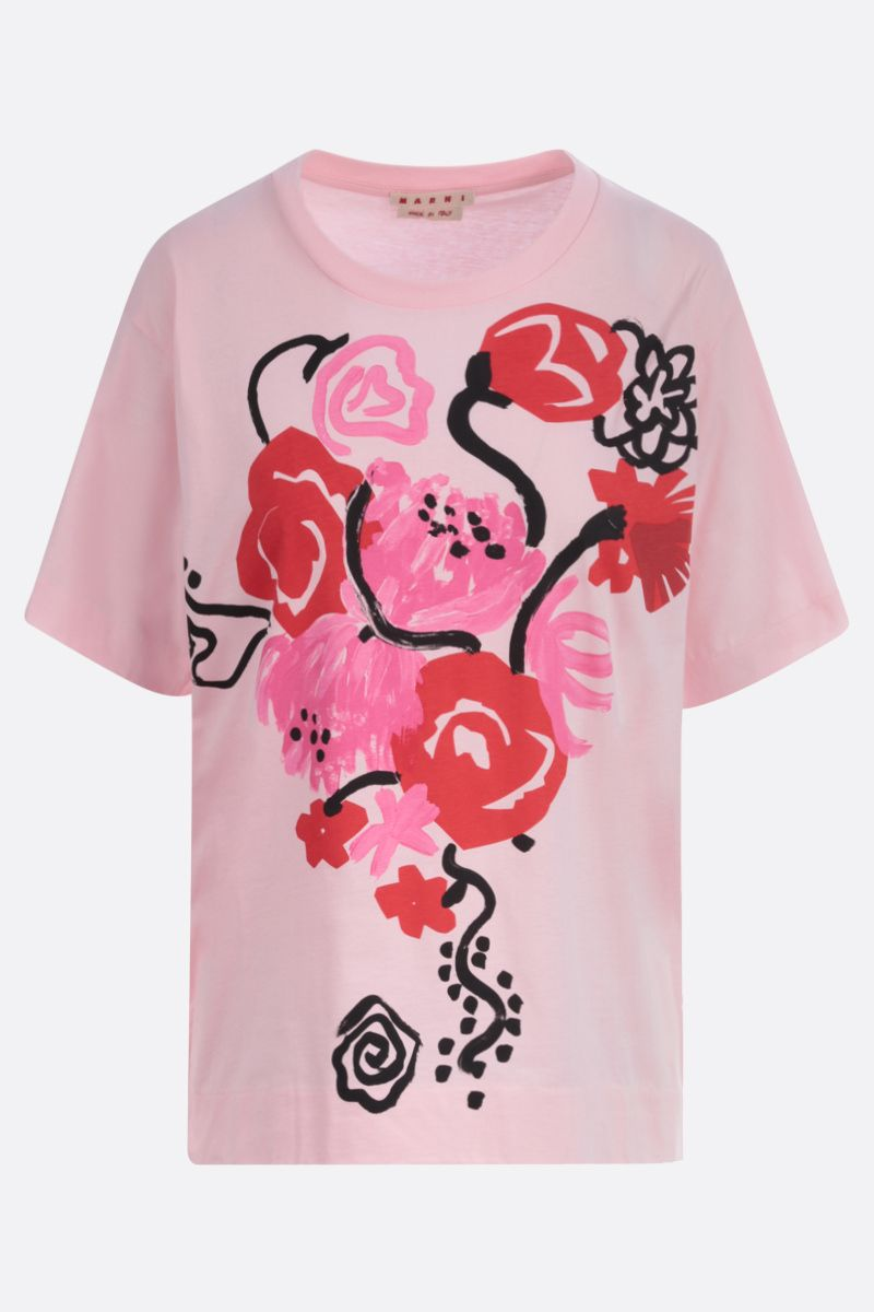 MARNI: Tornado print cotton t-shirt Color Pink_1