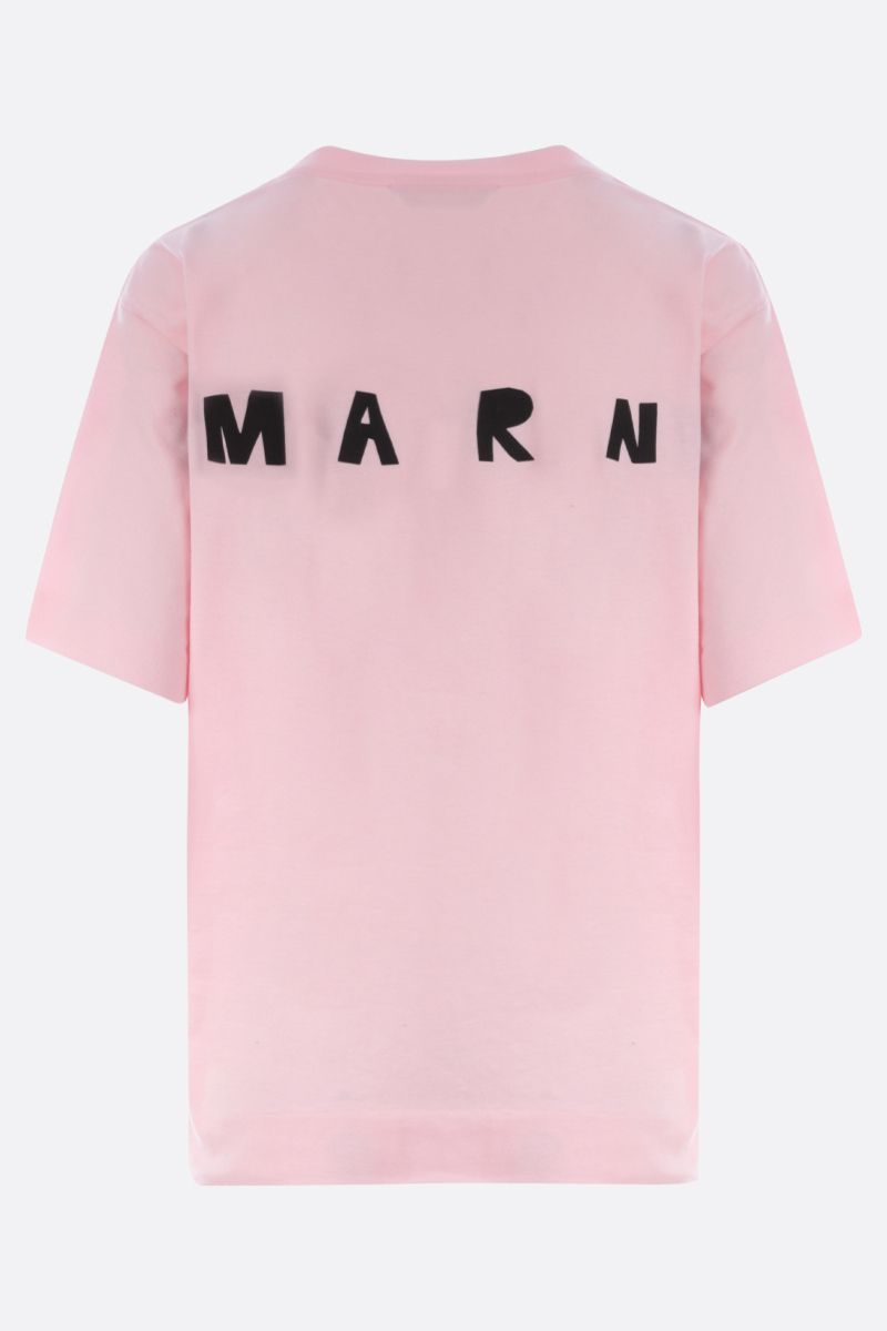 MARNI: Tornado print cotton t-shirt Color Pink_2