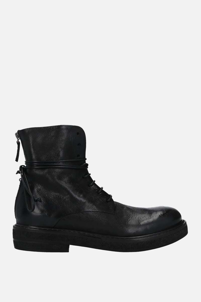 MARSELL: Parrucca nabuck combat boots Color Black_1