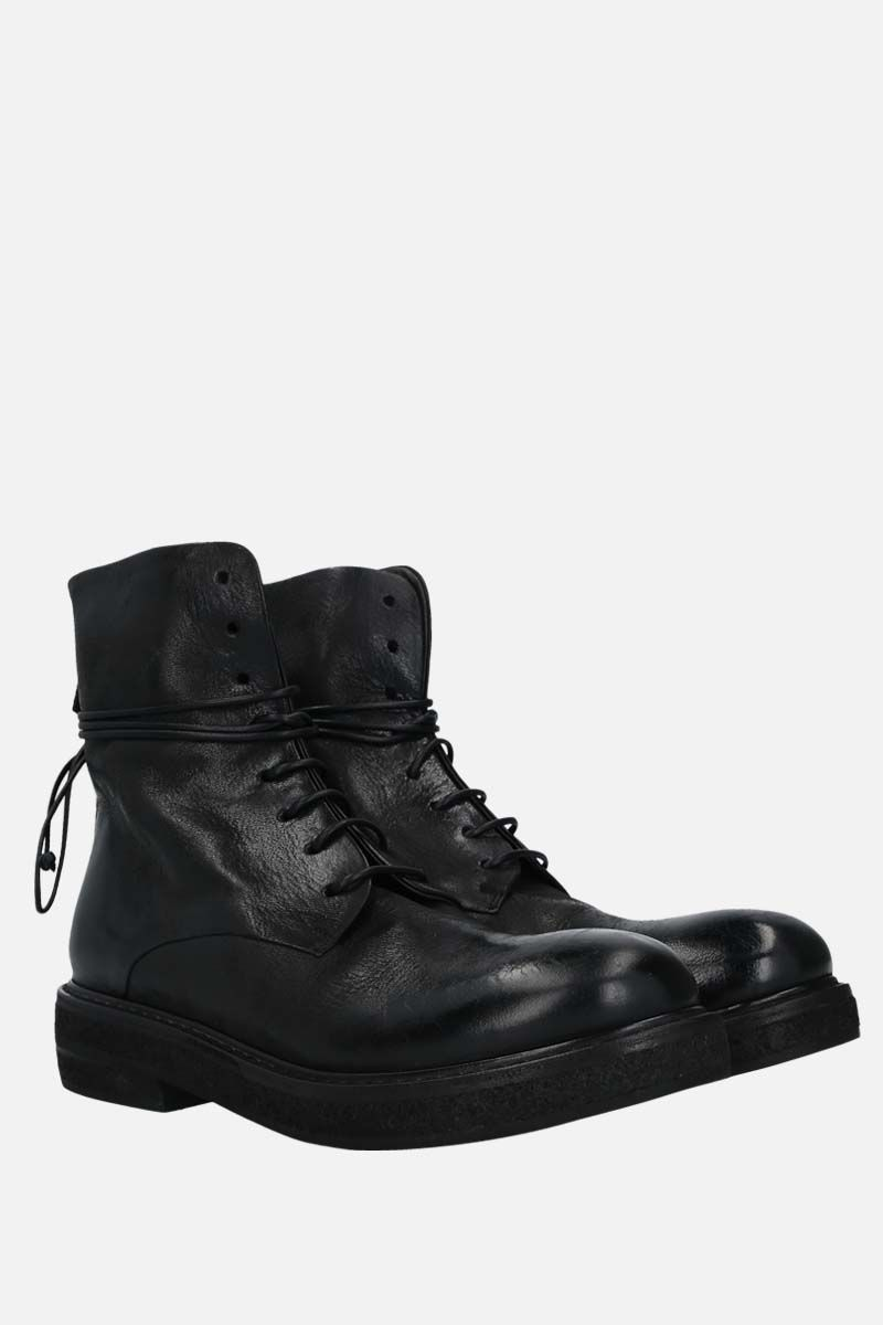 MARSELL: Parrucca nabuck combat boots Color Black_2