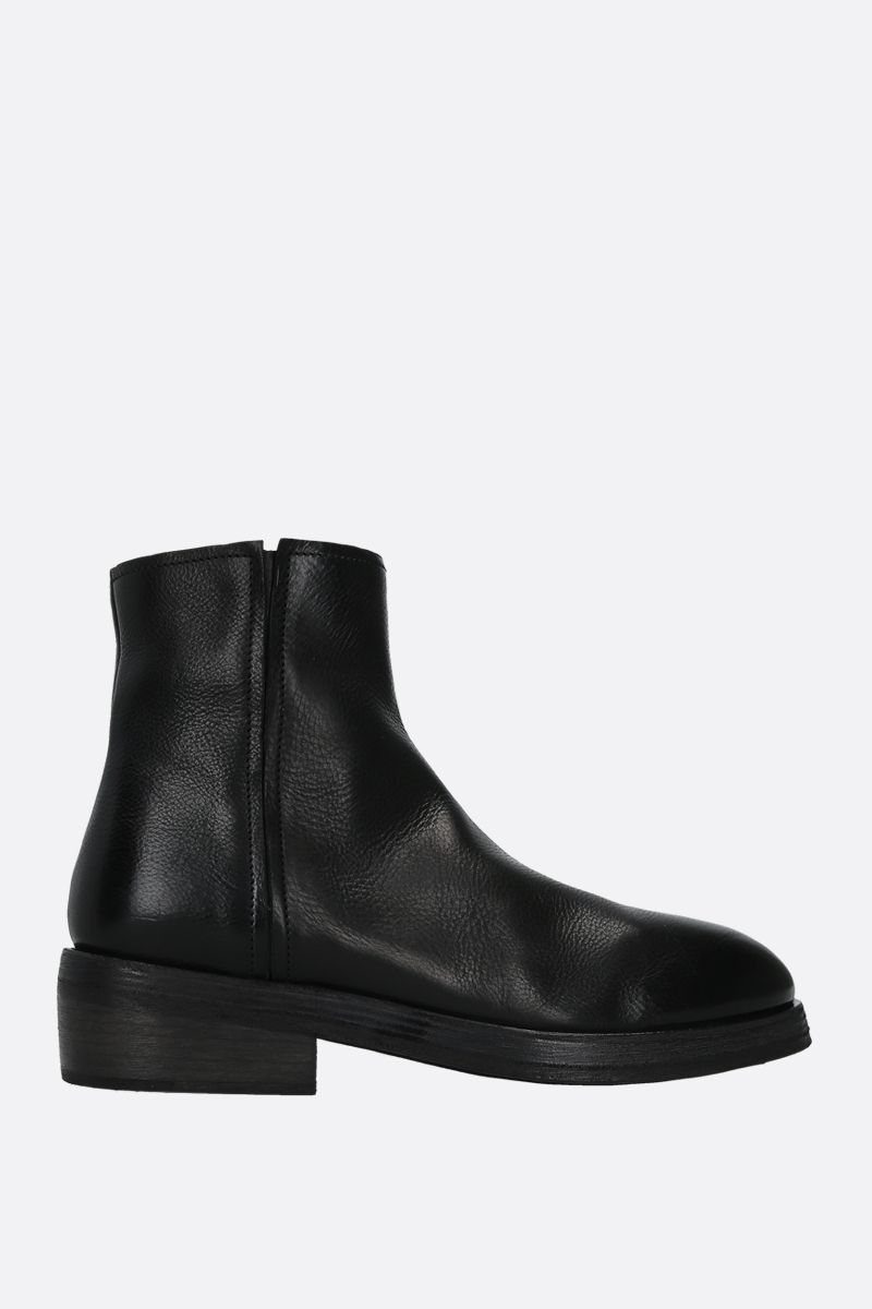 MARSELL: Tozzo smooth leather ankle boots Color Black_1