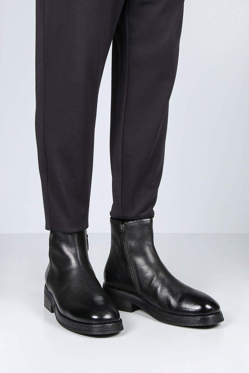 MARSELL: Tozzo smooth leather ankle boots Color Black_2