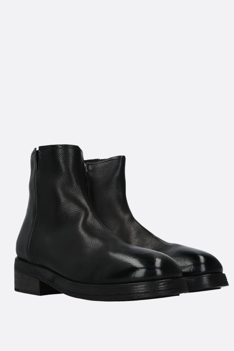 MARSELL: Tozzo smooth leather ankle boots Color Black_3