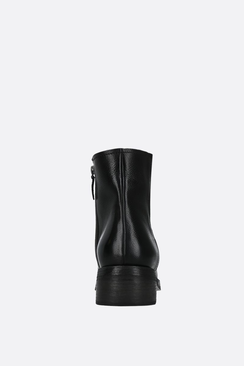 MARSELL: Tozzo smooth leather ankle boots Color Black_4