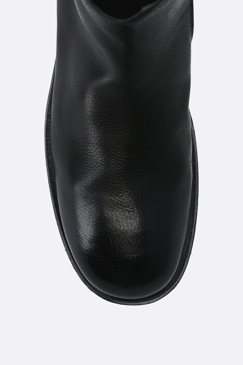 MARSELL: Tozzo smooth leather ankle boots Color Black_5